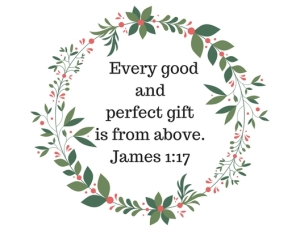 every good and perfect gift is from above.