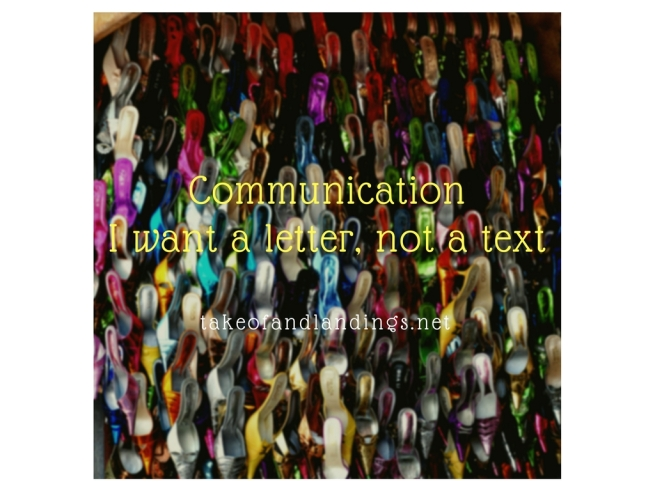 i want a letter, not a text